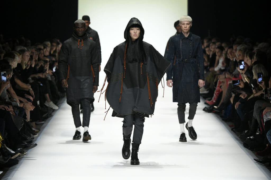 Fashion News mit Designer Floyd Avenue während der Mercedes-Benz Fashion Week in Berlin im Januar für Herbst/Winter 2020/2021